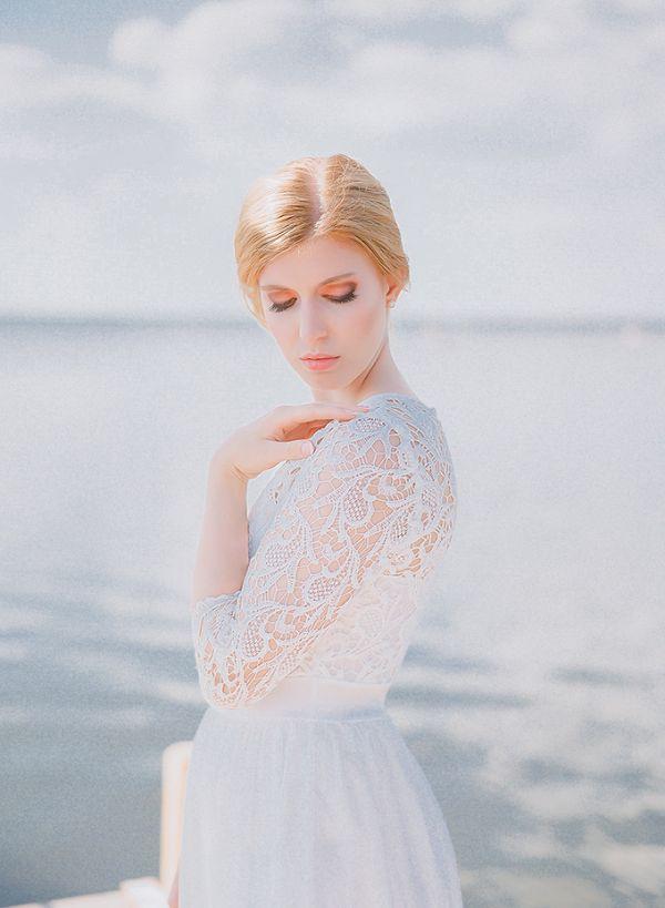 Seaside bridal portraits    #weddings #weddingideas #aislesociety  #vintagewedding
