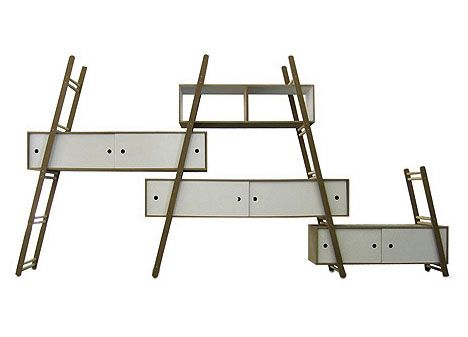 B(u)y Extension: Modular Multi-Ladder Step Shelf System