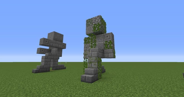 07 - Minecraft small statues for worlds easy to build