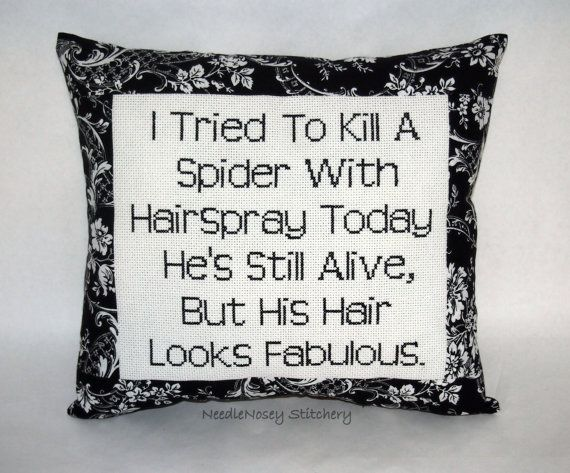 Hey, I found this really awesome Etsy listing at http://www.etsy.com/listing/176203955/funny-cross-stitch-pillow-black-and