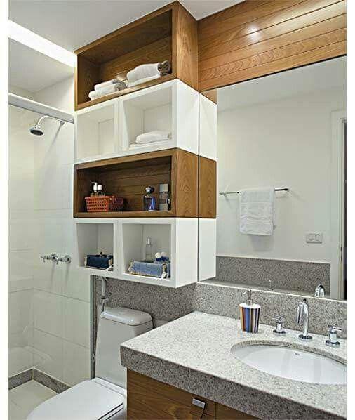 Nichos decorativos de banheiro  Nichos na decoração  Pinterest -> Decoracao De Banheiro Pequeno Com Nichos