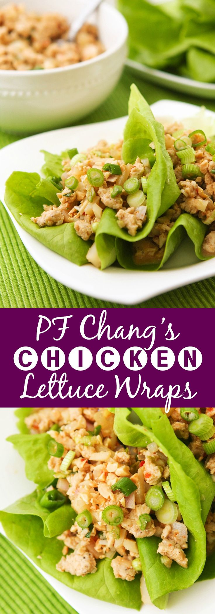 Slim and Delicious Chicken Lettuce Wraps | A healthy version of the famous P.F. Changs chicken lettuce wraps. It tastes just as good, if not better!