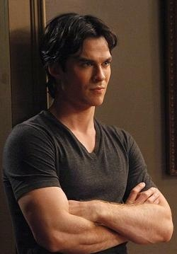This what love at first sight looks like :) Damon Salvatore from the Vampire Diaries