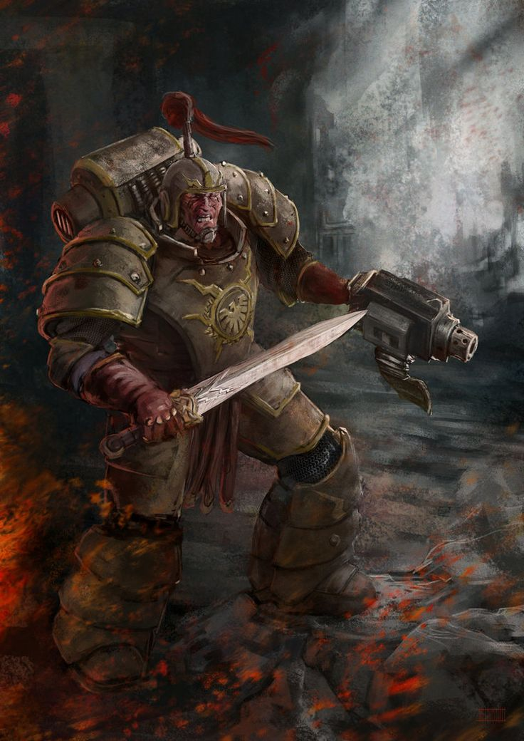 Thunder Warriors were the Emperors first version of Space Marines, created for the purpose of uniting Terra under one banner. Unfortunately the Emperor would find other means to create powerful warriors, so in order to avoid the jealousy to overtake the Thunder Warriors, he sent them to fight a battle of impossible odds, whipping them out