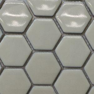 Ice Mint Hexagonal Mosaic Tiles 48mm - Tiles - Surface Gallery #whitehexagon #hexagonmosaics #hexagonalmosaics