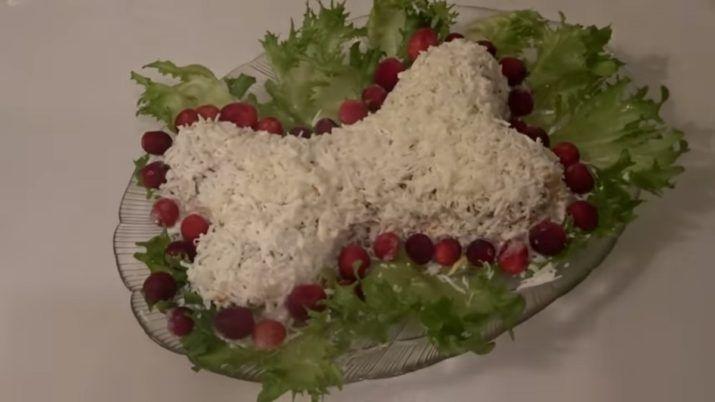 Новогодний салат «Косточка»: привлекаем удачу