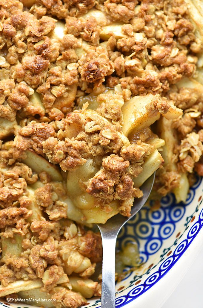 Apple Crisp Recipe | http://shewearsmanyhats.com/apple-crisp-recipe/