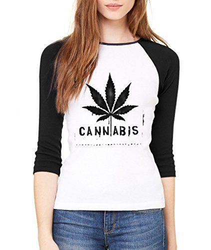 Cannabis Leaf Legalize Weed 3/4 Sleeve 420 Day High Street Raglan Baseball Shirt - 420 Shop