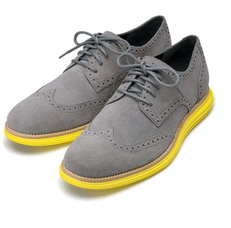 neon yellow and gray cole haan lunargrand men s wing tip shoes shoes we love pinterest. Black Bedroom Furniture Sets. Home Design Ideas