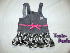 Bitty Baby by American Girl Gray Camouflage Jumper Dress for Doll