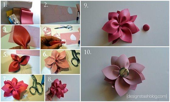 deriden çiçek yapımı
