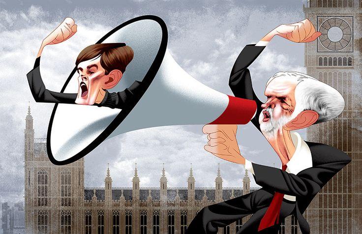 Seumas Milne & Jeremy Corbyn | by André Carrilho