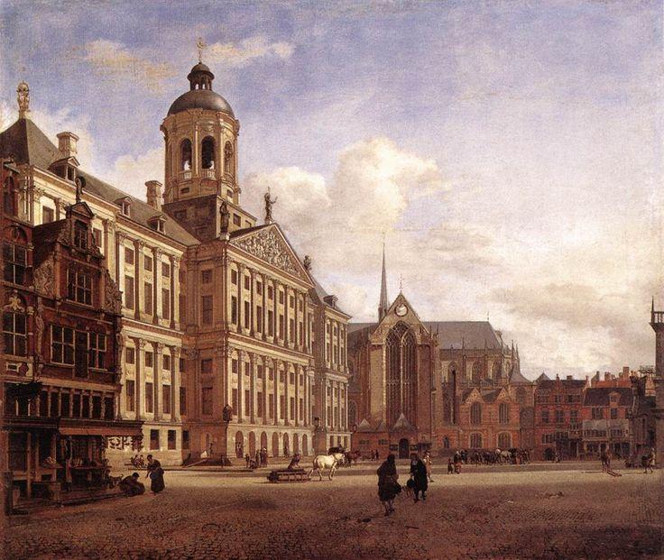 Jan van der Heijden -stadhuis op de Dam 1668. Dit schilderij werd aangekocht door Cosimo III de Medici.