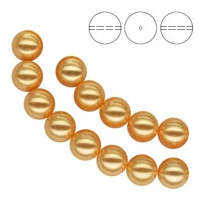 5810 Round Pearl 5mm Gold Pearl - 10 pieces  Dimensions: 5,0mm Colour: Crystal Gold Pearl 1 package = 10 pieces