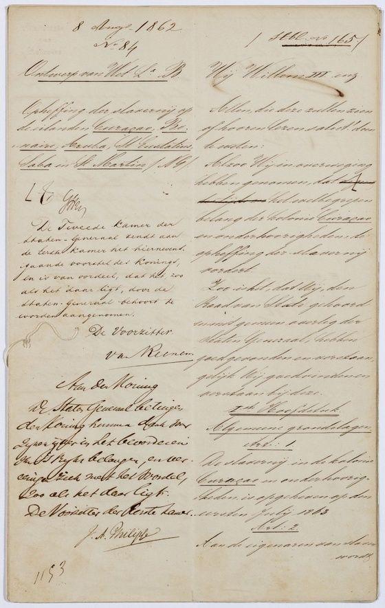 Wet afschaffing slavernij - Historiek
