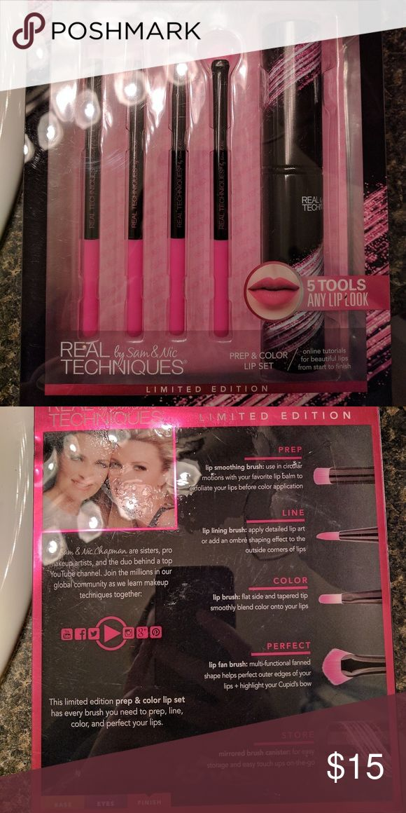 Real techniques brush set Real techniques prep and color lip brush set real techniques Makeup Brushes & Tools