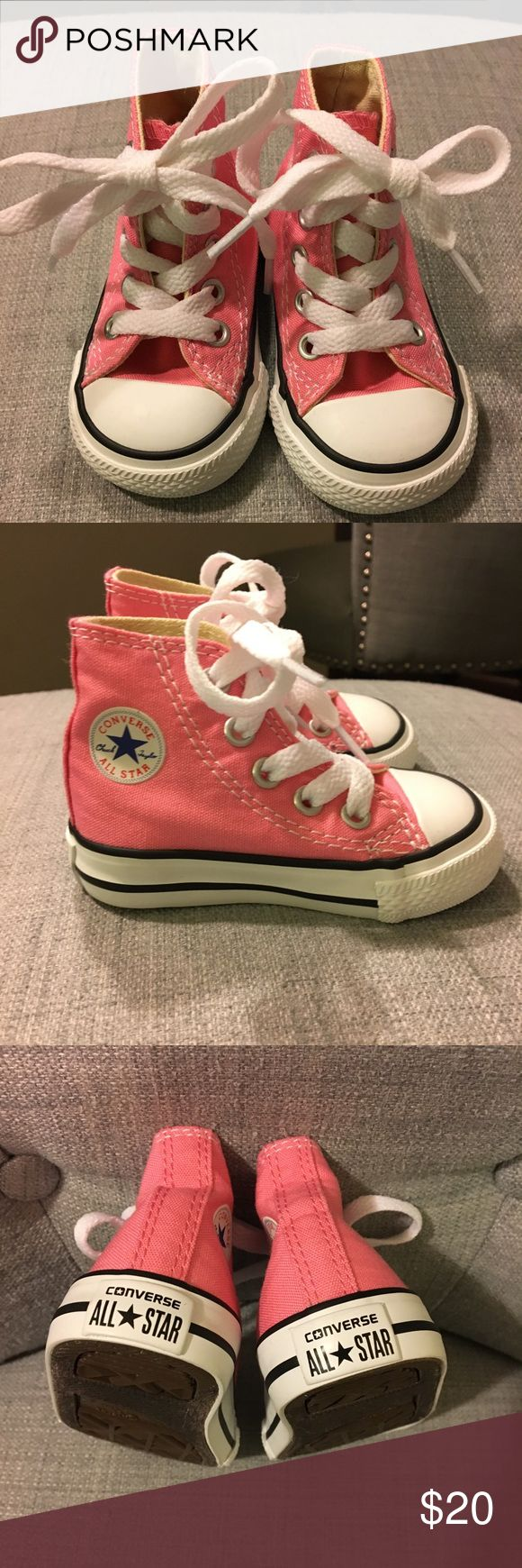 Baby Converse Chuck Taylor's All Stars high tops! Super cute converse high tops for baby girl! EUC used a couple of times for pictures and never used to walk. Converse Shoes Sneakers
