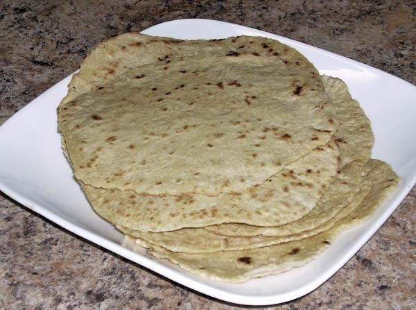 Homemade Spelt Flour Tortillas from Food.com: sooo delicious!!  You can also use regular flour for this, but I got this from a friend and she uses freshly ground spelt berries for this.  Spelt is lighter tasting than whole wheat and it's better for you than white.  There's no shortening, so it's healthier, and no kneading.