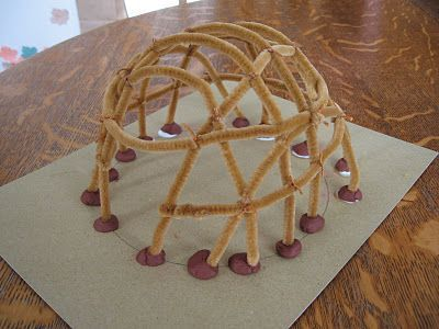 Pipe Cleaner Wigwam -- this will be great once we get into our Native American portion of history
