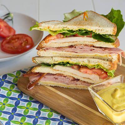Club Sandwich with honey mustard.
