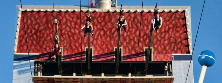 Slotzilla Zip Line downtown Las Vegas - zipping down from the largest slot machine in the world, a popular and safe activity for all ages