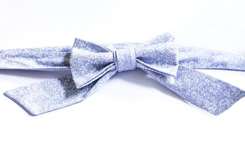 Light Grey Floral - Handmade Sailor Tie