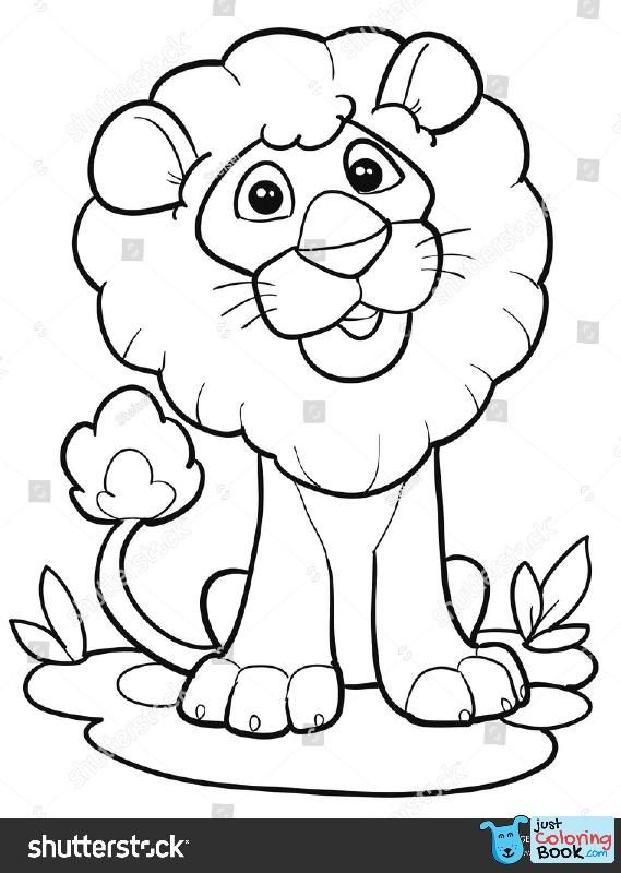 Coloring Page Outline Of Cartoon Cute Lion Vector Regarding Cute Cartoon Lion Coloring Pages D Lion Coloring Pages Puppy Coloring Pages Animal Coloring Pages