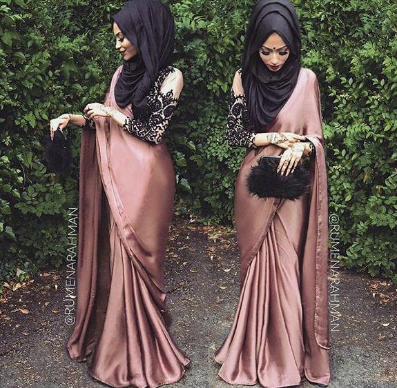 Saree and Hijab look …