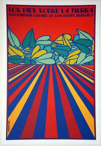 Cuban Movie Poster for Cuba Film Pie Sobre Tierra Feet on Ground Psichedelic Art | eBay