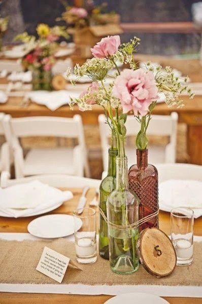 Centro de mesa para boda  http://conbdeboda.blogspot.com.es/2013/10/numeros-para-mesas-en-tu-boda.html