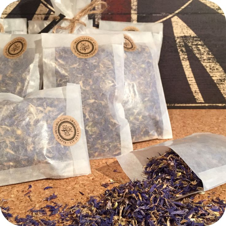 Cornflower Wedding Confetti -  Dried natural fragranced petals glassine bag - pinned by pin4etsy.com