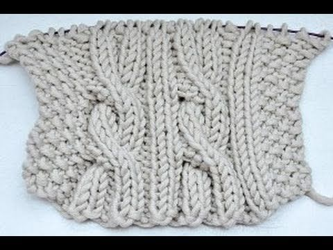 "* Cable Knit Knitting ""Reversi"".  Totally reversible cable stitch, great for scarves."