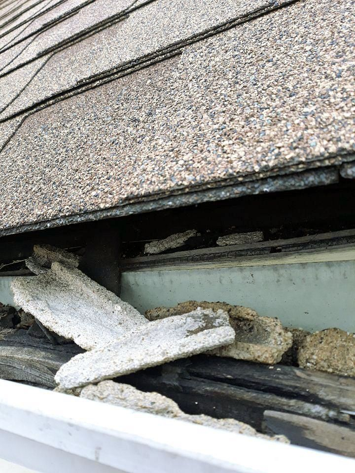 If Left Unchecked Clogged Gutters Can Actually Start To Weaken The Structure Of Your Home And Roof It Sounds Extreme Gutters Clogged Gutter Cleaning Gutters
