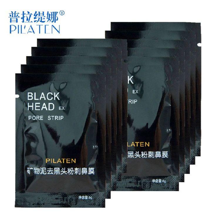 1pcs Face Care PILATEN Nose Facial Blackhead Remover Mask Minerals Pore Cleanser Black Head Pore Strip for nose makup