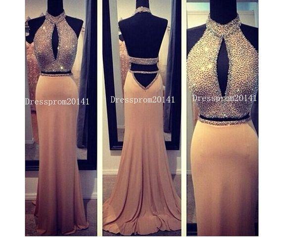 Champagne Prom DressLong Prom DressesBlue by DressProm20141, $143.00