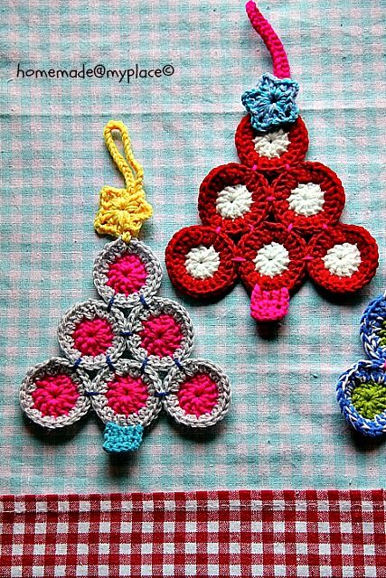 Colourful Christmas tree decorations,  tutorial by homemade@myplace. ♥♥ thanks so for sharing xox