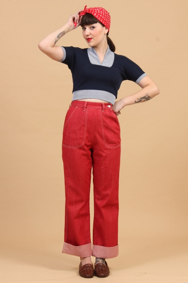 Cool 40s Jeans  Sewing Projects  BurdaStylecom