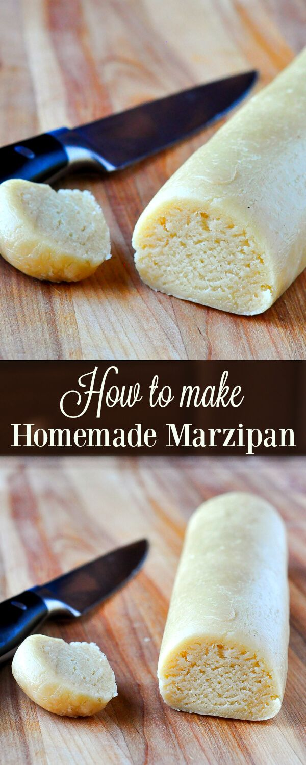 How to make Homemade Marzipan - better flavour, less expensive! Now you can make it at home fresh every time you need it; much better than store bought.