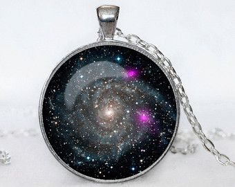 ASTRONOMY NECKLACE  Astronomy jewelry Nebula  Galaxy necklace  universe pendant for men