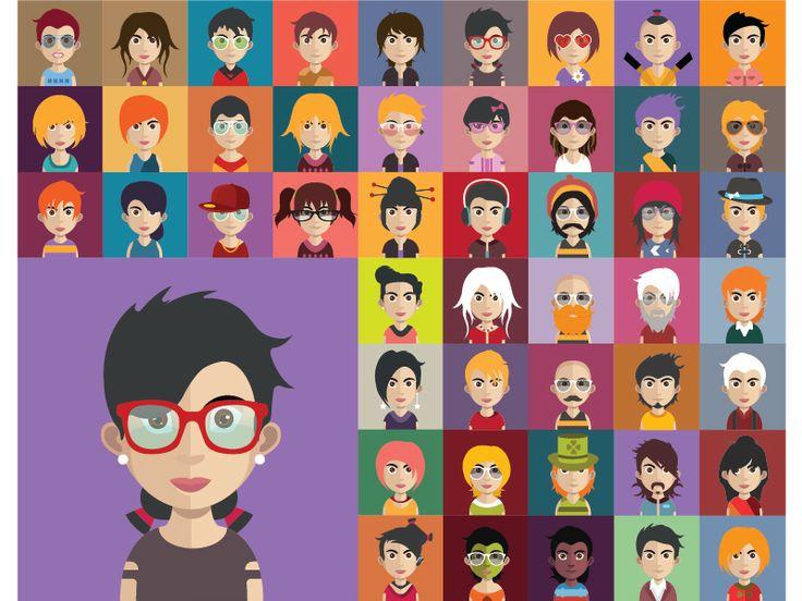 Vector Avatar Characters by Kubanek Csaba