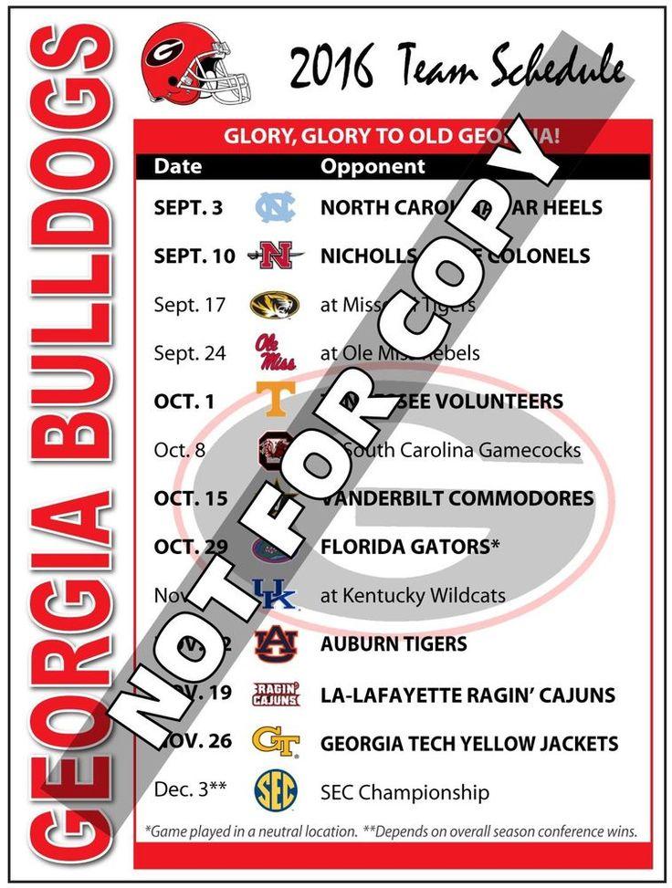 2016 Bulldogs Football Schedule