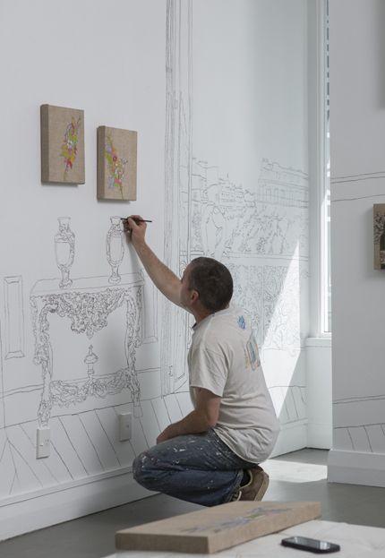 "Installing the ""Belle Epoque Project"" Sanderson Contemporary Art 2014"