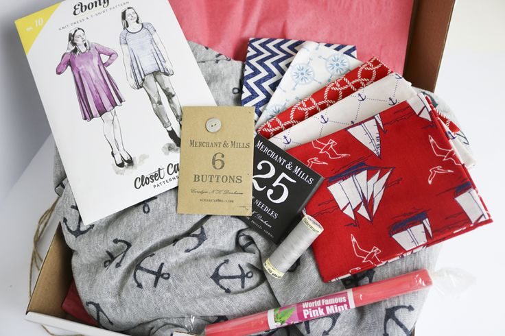"""June's Luxury """"Anchors Away"""" Sewing subscription box from SewHayleyJane"""