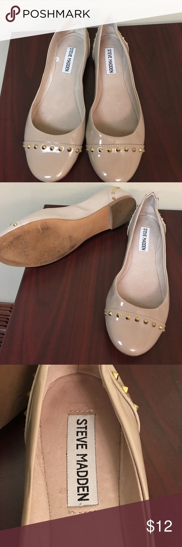 Steve Madden Flats Nude Colored Flats worn a couple times, no tags & no box Steve Madden Shoes Flats & Loafers