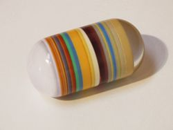 Terry O'Shea, Untitled Capsule, c. 1968, cast resin, length: 3 diameter: 1.5 in.