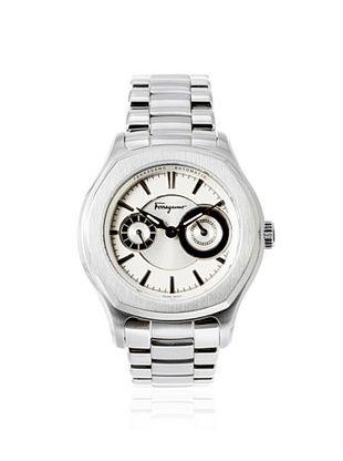 50% OFF Salvatore Ferragamo Men's FQ1060013 Lungarno Silver Stainless Steel Watch