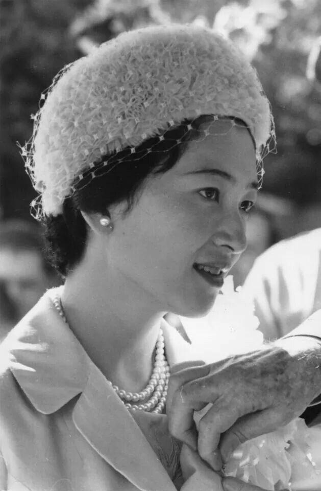"Crown Princess Michiko of Japan in tbe 1960s. ""AL"""