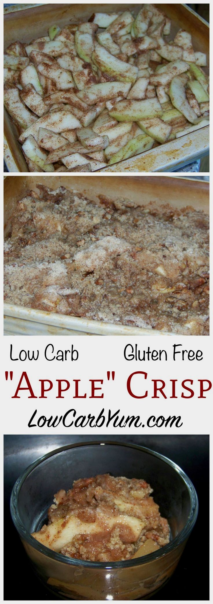 Apples are a forbidden fruit on the low carb diet, but this gluten free mock apple crisp using zucchini is a clever way to trick your taste buds when you crave apples. (Low Carb Apple Recipes)