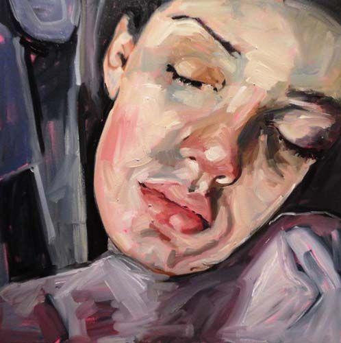 "Laura Woermke, Sleep 1, oil on canvas, 24""x24"". $1200"