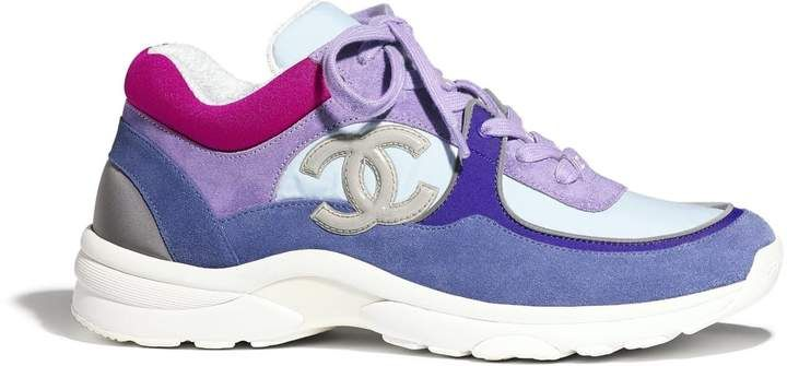 Chanel Low Top Trainer CC Ivory Blue (W
